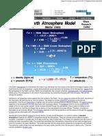 Earth Atmosphere Model - Metric Units