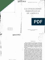 CANALS FRAU, SALVADOR - Las Civilizaciones Prehispánicas de América
