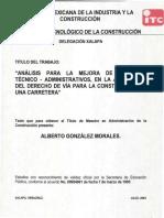 NRF-014 Derechos de Via