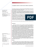 Adverse Events and Technical Complaints Related to Central Venous Catheters Marketed in Brazil