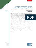 Estructura y tenencia de la tierra agrícola en América Latina y el Caribe