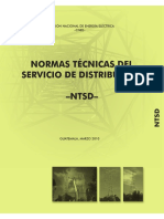 Normas Técnicas CNEE - NTSD