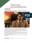 La Pagina - Gustavo López Busca Candidatura Presidencial Por ARENA