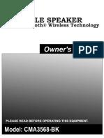 PortableSpeaker CMA3568 BK