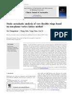 2012 Static Aeroelastic Analysis of Very Flexible Wings Ba 2013 Chinese Journal o