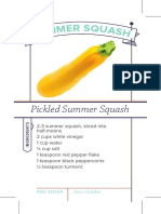 Pickled Summer Squash