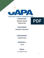 Tarea Final Evaristo Feliz Forense Reporte de Lectura 7 Unidades Uapa