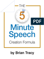 Brian Tracy - 5 Minute Speech Formula