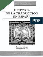 Historia de La Traduccion en Espana