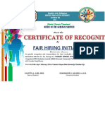Certificate of Recognition for Career Expose