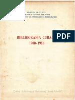 Bibliografía cubana 1900-