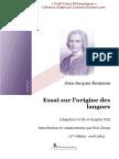ROUSSEAU, Jean Jacques. Essai sur l'origine des langues - Introduction et commentaires par Eric Zernic.pdf