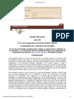 Decreto 099 de 2013