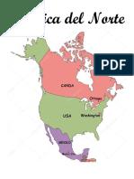 ,America Del Norte, Mapa