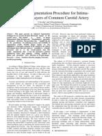 Enhanced Segmentation Procedure for Intima Adventitial Layers of Common Carotid