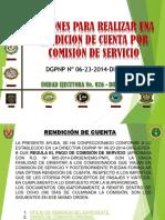 Acciones Para Realizar Una Rendicion de Cuenta Por Comisión de Servicio