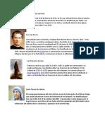 Santos Mas Conocidos y Su Info Con Foto