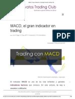 MACD, El Gran Indicador en Trading _ Novatos Trading Club