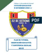 Plan de Tutoria Institucional 2018jl