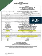 testing calendar 2018-2019