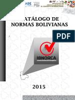 Catálogo Anual de Normas Bolivianas, Normas Técnicas Bolivianas NB Aprobadas.