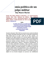Economía Política de Un Golpe Militar