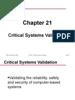 Critical System Validation