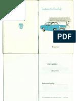 Instructieboekje Ford-Simca Versailles Regence 1955