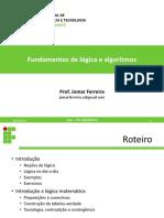 Fundamentos de Lógica e Algoritmos