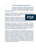 Fenómenos Transitorios en Las Redes Eléctricas. Transformador.