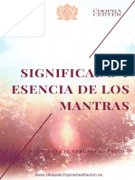 Significado y Esencia de Los Mantras