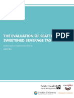 Evaluation of Seattle's sweetened beverage tax