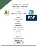 Diagrama Gantt Pert y Flujo de Proceso