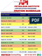 2019 API Icp Exam Schedules