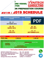 2018 2019 Schedule API 510 Full Course Flyers Instech Consulting New