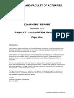 IandF CA11 201509 ExaminersReport