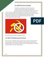 Kronologi Peristiwa G30S PKI Secara Singkat