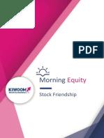 Kiwoom Trading Plan, 09 Agustus 2018