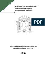Reglamento Para La Distribución de Carga Académica Docente 2018