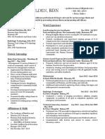 resume - lifestyle medicine rd