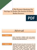 Reliability Of The Pronator Quadratus Fat Pad Sign ppt.pptx