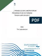 laporan pengelolaan laboratorium