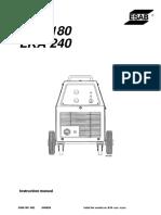 Manual maquina soldar ESAB LKA-240-2