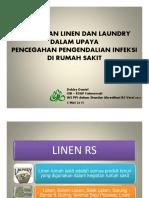 Pelayanan Linen & Laundry Dlm PPI - Dra. Debby Daniel, Apt, M.epid