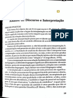 Análise de Discurso e Interpretação - Orlandi
