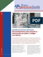 HIP INFORME de POLÍTICAS ESPECIALES Recomendaciones Para Prevenir La Intoxicación Por Plomo y Mitigar Sus Efectos