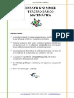 Ensayo2 Simce Matematica 3 basico