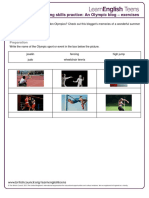 3 an Olympic Blog - Exercises