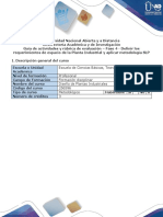 Guia y Rubrica Fase 4 Definir Los Requerimientos de Espacio de La Planta Industrial y Aplicar Metodología SLP