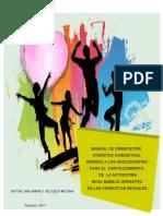 Manual de Orientación Cognitivo Conductual Dirigido a Los Adolescentes Para El Fortalecimiento de La Autoestima en El Manejo Operativo de Las Conductas Sexuales